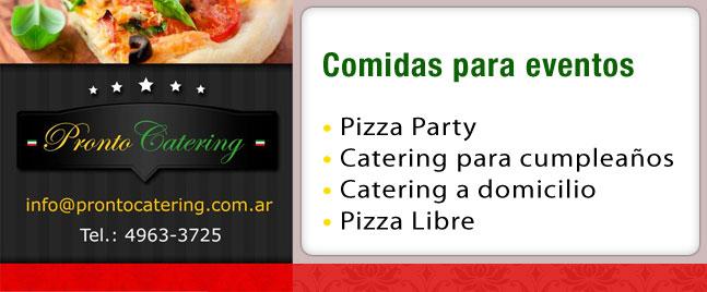 menu de comida para fiesta